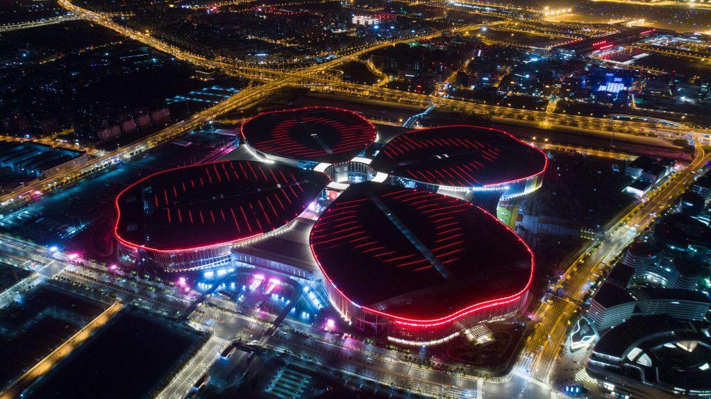CIIE Expo center Shanghai Chine